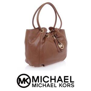 Auth Like-New Michael Kors Camden Tan Handbag
